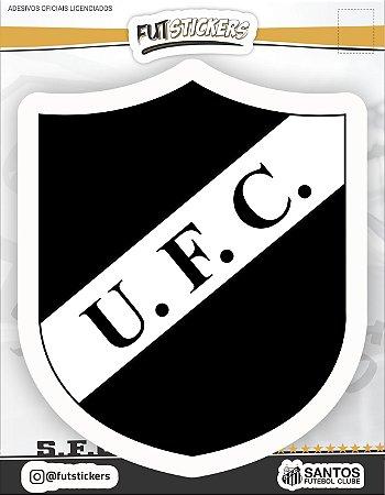 Cartela de adesivo do escudo RETRÔ do Santos