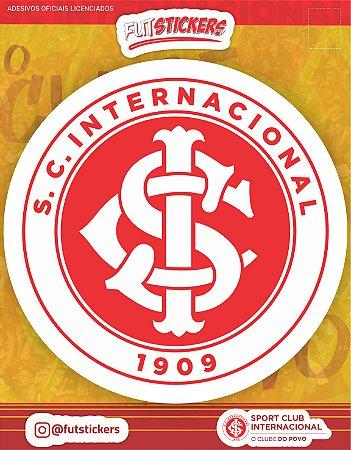 Cartela de 1 adesivo do escudo do INTERNACIONAL