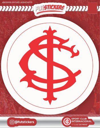 Cartela de 1 adesivo do escudo do retrô do INTERNACIONAL
