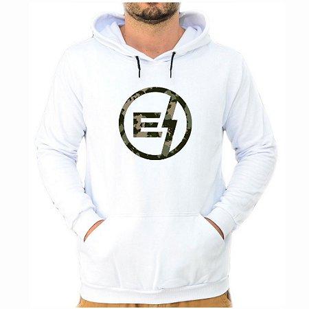 Moletom Branco Logo Camuflado EFECT