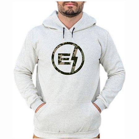 Moletom Cinza Logo Camuflado EFECT