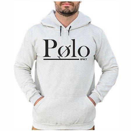 Moletom Polo Efect Cinza