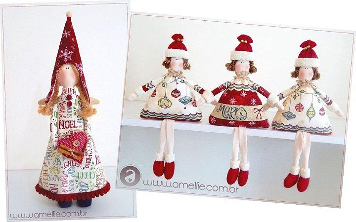 Kit Anjinha Joy e Bonequinha de Natal
