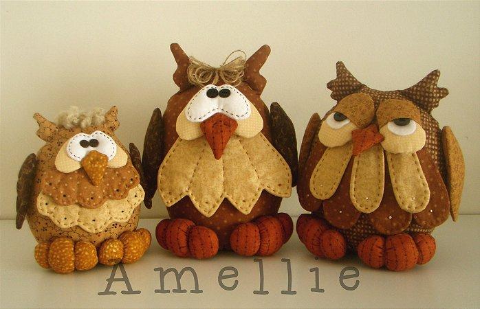 Trio de corujas