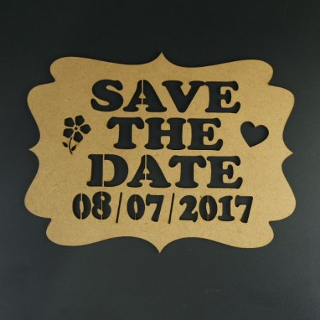 Placa Save the Date Para Tirar Fotos Pintada ou Sem pintura