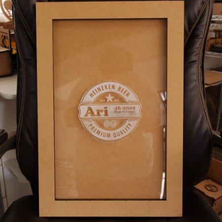 Quadro Porta Chapinhas Cerveja Personalizado com Gravação ESPECIAL