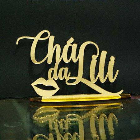 Topo De Bolo Chá de Lingerie com 14cm (maior lado da peça) - Cor à Escolher