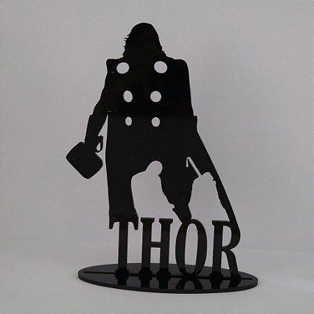 Topo De Bolo Temático (THOR) Marvel - 14cm (maior lado da peça)  - Cor à Escolher
