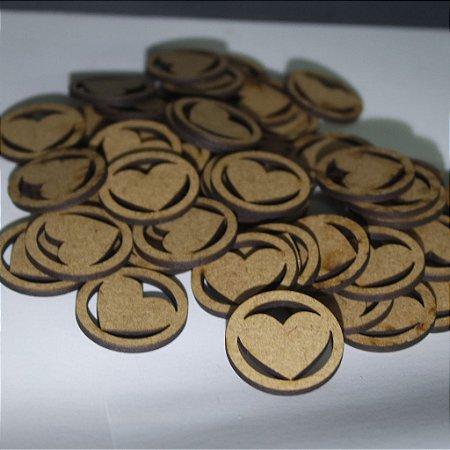 100 Tags Para Convites com imagem de coração - Não personalizável 3cm