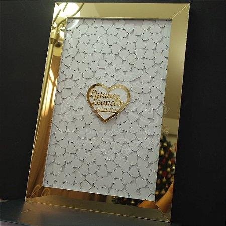 Quadro de Assinaturas Com Coração (Personalizado com as Iniciais ou nomes que o Cliente Desejar)