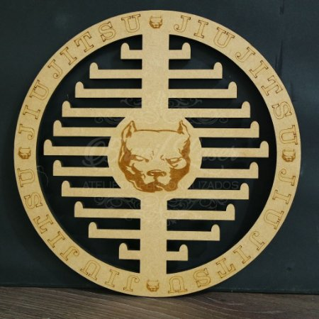 Porta Medalhas Jiu Jitsu Estilo Mandala Modelo: Cachorro Loco!