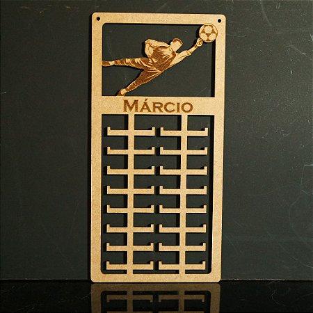 Novo Porta Medalhas Goleiro Personalizado Tamanho 29cmx60cm Aprox.80 Medalhas
