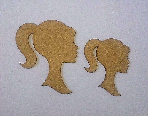 Silhueta da Estilo Perfil Mulher Decorativo em Mdf - Vários Tamanhos
