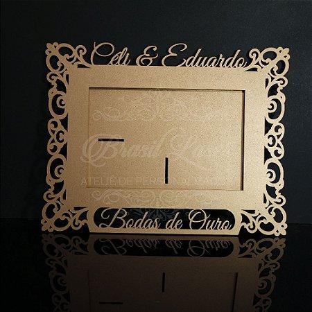 Porta Retrato Bodas de Ouro Personalizado com Opção de Qantidade e cores dentro do anuncio