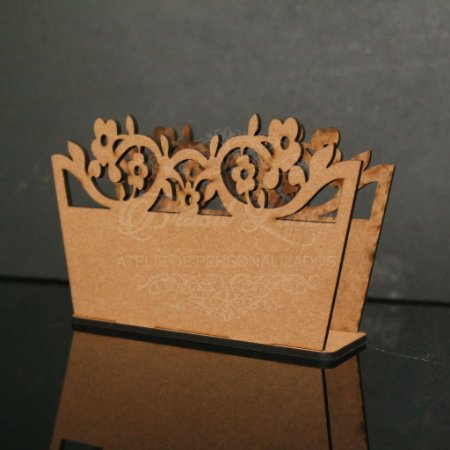 1 Porta Guardanapo em mdf sem pintura (Minimo 10 unidades)