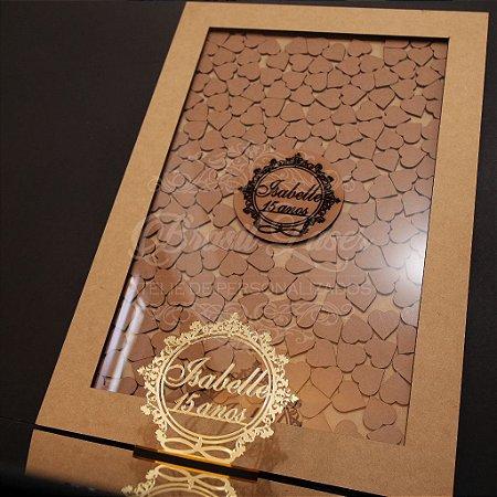 Kit Promocional! 1 Topo de Bolo Dourado 14 cm + 1 Quadro de Assinaturas