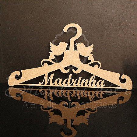 Cabide com escrita Madrinha!