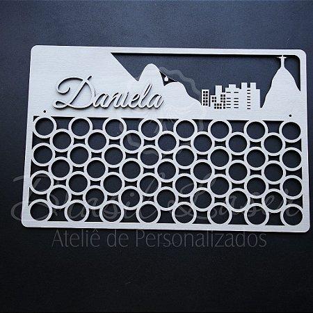 Porta Medalhas - Modelo: Rio de Janeiro com Nome Personalizado -  Tamanho:45cmx30cm Aprox. - Várias cores no anuncio.