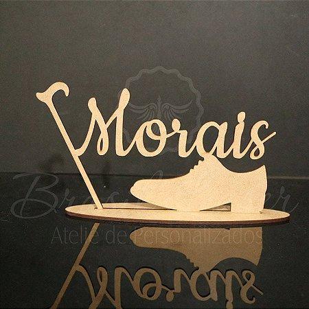 Topo de Bolo Sapato e Bengala - Tamanho com 14 cm (maior lado da peça) - Cor à Escolher