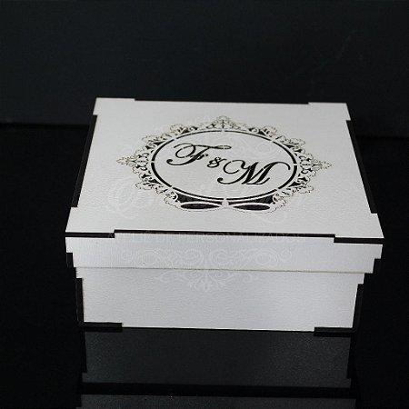 50 Caixinhas em Mdf Branco - Tamanho 15x15x5 Personalizada