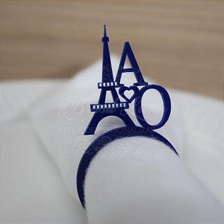 1 Porta Guardanapo Paris Torre Eiffel em Acrílico Personalizado - Escolha a Cor dentro do Anúncio - #Quantidade Mínima: 10 unidades iguais#