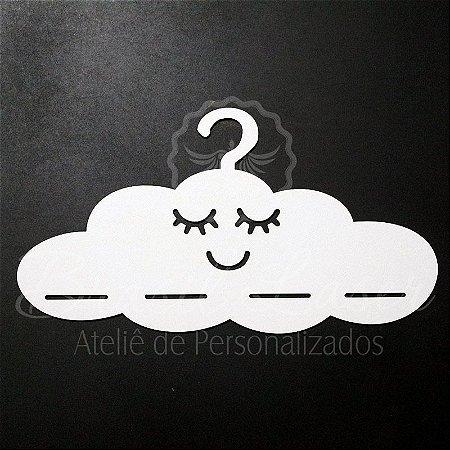 Cabide para Laços Modelo Nuvem em Mdf Branco - A cor do Aplique deve ser selecionada dentro do Anúncio.