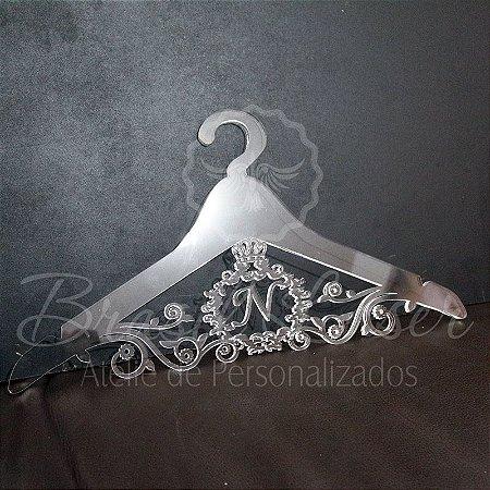 Cabide com Brasão - Personalizado com as Iniciais dos Noivos Casamento ou Debutante