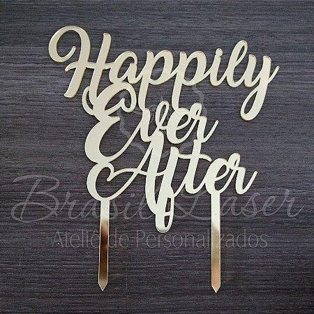 Topo De Bolo de Fincar Happily Ever After- Cor à Escolher