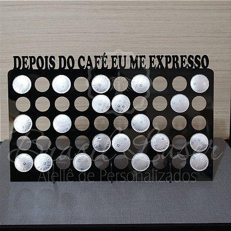 Porta Cápsulas Nespresso p/ 50 Cápsulas - Cor e Tipo Material a Escolher