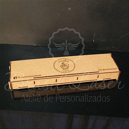 10 Caixinhas com 5 divisórias para Brownie em Mdf  tamanho 39x8,4x3cm Personalizada