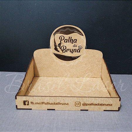 10 Expositores de Brownie / Alfajor / Palha Italiana / Cake / Pão de Mel com 24x24cm em Mdf com logomarca gravada