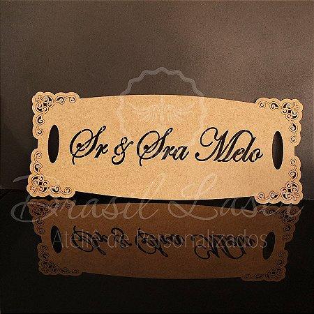 1 Placa para Entrada dos Noivos (Frase Personalizada) - Opções de cores e preços dentro do Anúncio