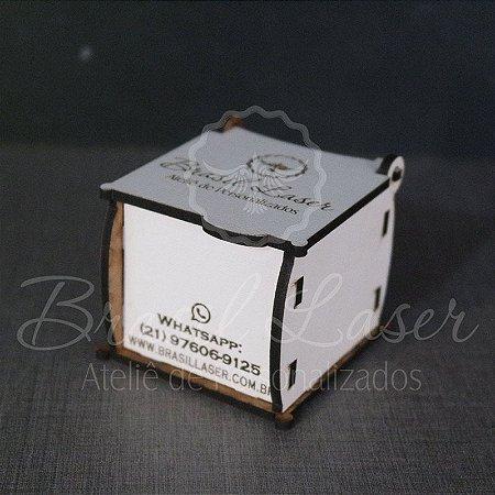 10 Caixinhas Em Mdf Branco Com Gravação na Tampa Personalizada 5,5 cm x 6 cm x 5 cm