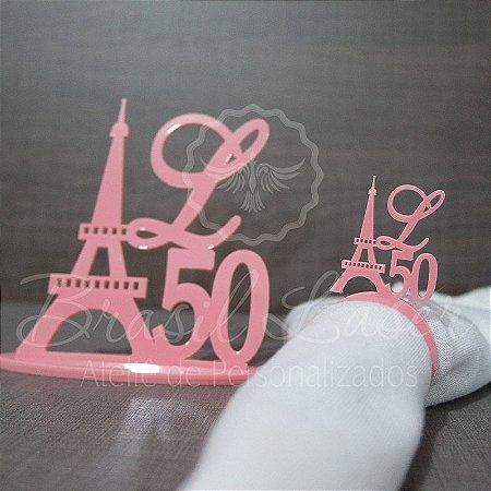 Kit Paris! 1 Topo de Bolo Acrilico 14 cm + 100 Porta Guardanapos em Acrílico (Verificar cores dentro do anuncio)