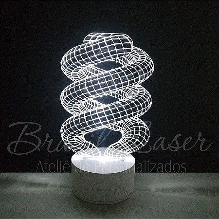 Abajur Luminária de Led sem Fio com Acrílico Grosso Iluminado 3D - Veja opções de Tamanho no Anúncio