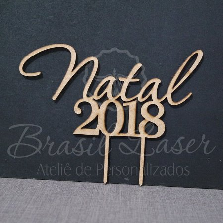 Topo De Bolo de Fincar de Natal / Natalino - Cor à Escolher