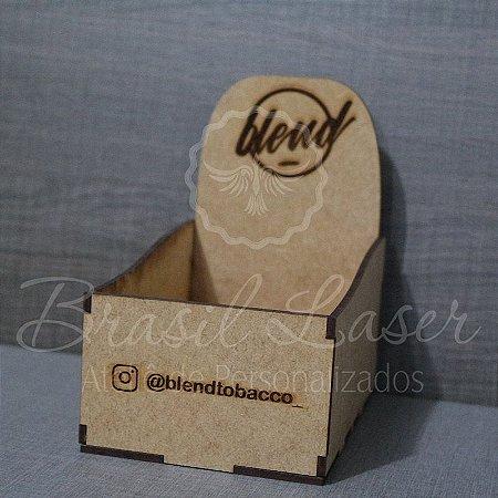 10 Expositores de Brownie / Alfajor / Palha Italiana / Cake / Pão de Mel com 13x9cm em Mdf com logomarca gravada
