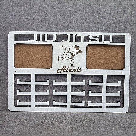 Porta Medalhas ( JIU JITSU ) Personalizado Com 2 Locais de Fotos Tamanho 45cmx29,5cm