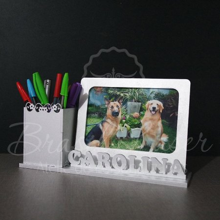 Porta Lápis e Canetas Personalizado em mdf - Opções de Pintado e sem pintura dentro do anuncio