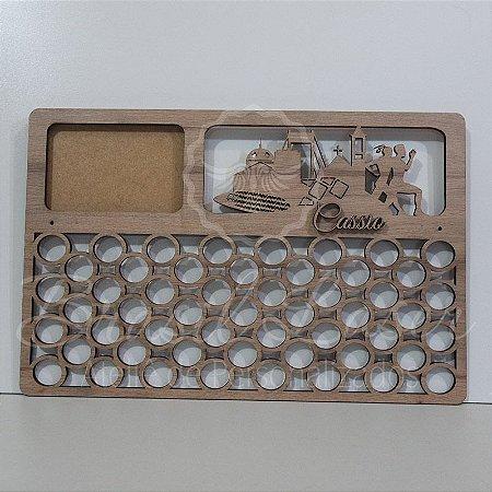 Porta Medalhas ( CORRIDA - MANAUS ) Personalizado Com 1 Local para foto -  Tamanho 45cmx29,5cm