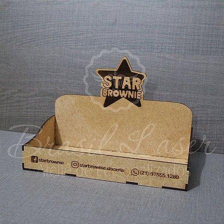 10 Expositores de Brownie com 24x12cm em Mdf com logomarca gravada