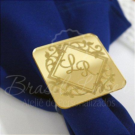 1 Porta Guardanapo em Acrílico Espelhado Dourado ou Prata - #Quantidade Mínima: 10 unidades iguais#