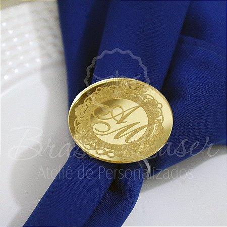 1 Porta Guardanapo em Acrílico Espelhado Dourado ou Prata - #Quantidade Mínima: 20 unidades iguais#
