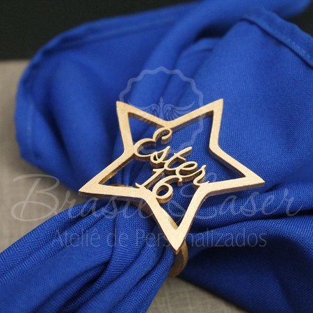 1 Porta Guardanapo Estrela em Mdf Personalizado  (Pintado e Sem Pintura) - #Quantidade Mínima: 10 unidades iguais#