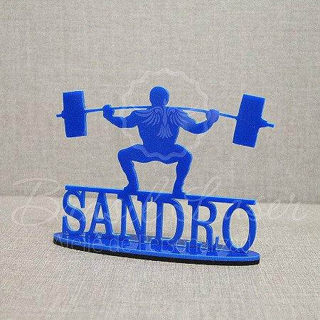 Topo De Bolo Musculação / Fitness com 20cm (maior lado da peça) - Cor à Escolher