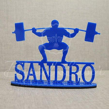 Topo De Bolo Musculação / Fitness com 14cm (maior lado da peça) - Cor à Escolher