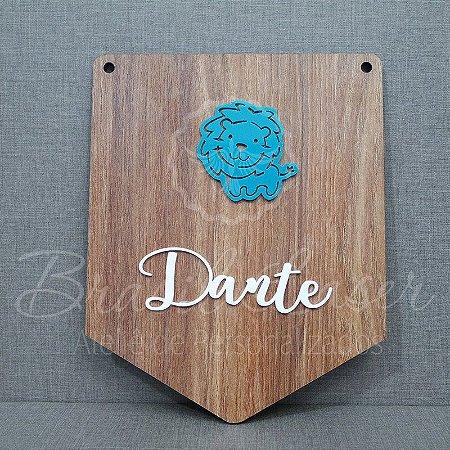 Placa de Porta Infantil com nome Personalizado e bichinho em Acrílico