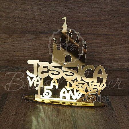 Topo De Bolo Castelo com 14cm (maior lado da peça) - Cor à Escolher