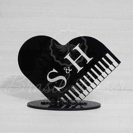 Topo De Bolo Musical / Piano com 20cm (maior lado da peça) - Cor à Escolher