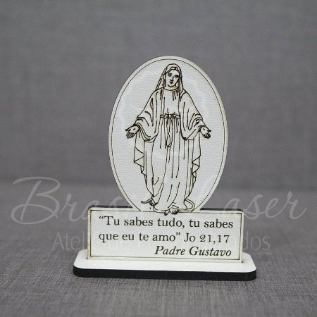 50 Lembrancinhas Religiosas ( Nossa Senhora ) com 8 cm de altura no Mdf Branco